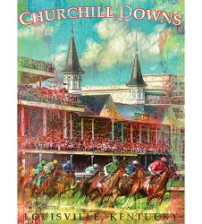 Churchill Downs First Turn Print,4361