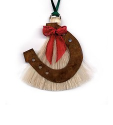 Horseshoe Horsehair Ornament