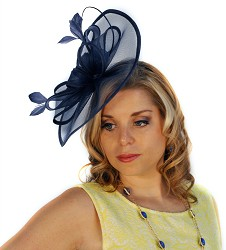 The Halo Bow Fascinator Blue