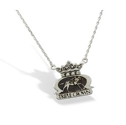 Sterling Silver Triple Crown Necklace by Darren K. Moore