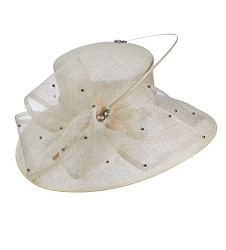 The Sparkle Quill Hat Ivory