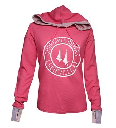 Churchill Downs Logo Cool Down Hoodie,S4OF-Q8992-10