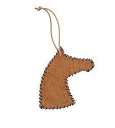 Dolan Stitched Hide Horse Ornament,ORN71510