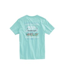 Vineyard Vines 2017 Finish Line Pocket Tee,1V0676 GREEN