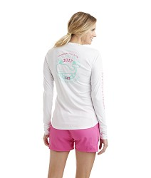 Vineyard Vines 2017 Derby Logo Pocket Long-SleeveTee,1V0687 WHITE