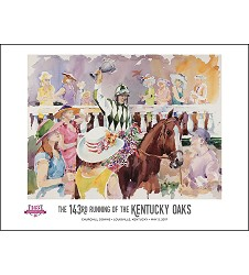 2017 Art of the Oaks Poster,Kentucky Derby 143-Art of the Derby,825452524528