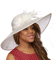 The Horsehair and Diamond Feather Hat Ivory