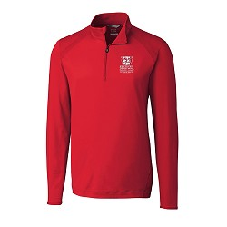 Kentucky Derby 143 Embroidered Williams 1/2 Zip Jacket,Cutter & Buck,MCK09324RED MONO