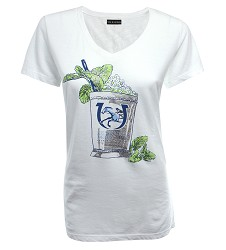 Kentucky Derby 143 Mint Julep Glitter Tee,7502L