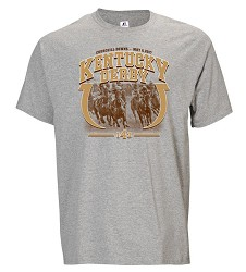 Kentucky Derby 143 Horseshoe Tee,6701MK OXFORD PLO6-1