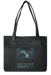 Kentucky Derby 143 Canvas Bling Tote,ZST LOGO 1