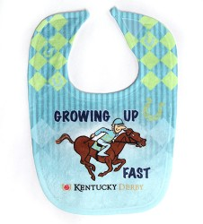 Growing Up Fast Baby Bib,DERBY ICON