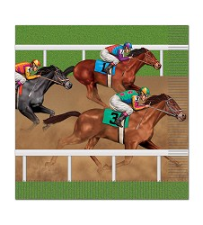 Race Horse Luncheon Napkins Pack of 16