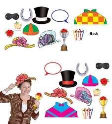 Horse Racing Photo Props Set of 12