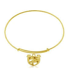 143 Logo Adjustable Bracelet Brass Gold