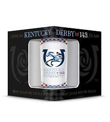 Kentucky Derby 143 Official Derby Glass 4 Pack