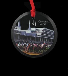 Churchill Downs Crystal Ornament