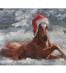 Foal in Snow Holiday Card Set
