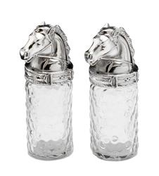 Horse Head Salt and Pepper Shakers by Arthur Court