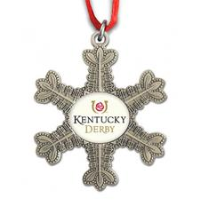 Kentucky Derby Pewter Snowflake Ornament