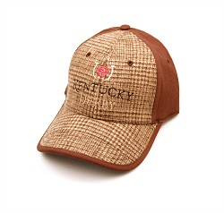 Kentucky Derby Plaid Cap Brown