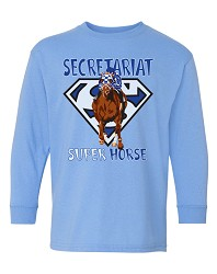 Kid's Secretariat Superhorse Long-Sleeve Tee Blue Small