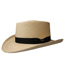 Men's Panama Gambler Hat Natural Beige Large
