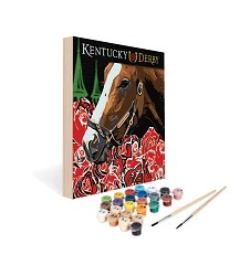 Paint by Number Art Kit--Run for the Roses