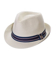 Paper Braid Fedora Ivory Medium