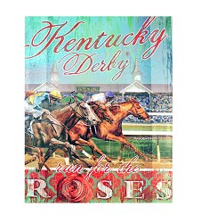 Run for the Roses Giclee Canvas
