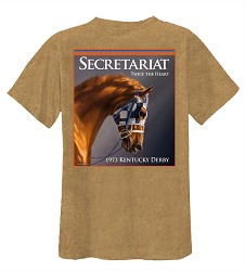 Secretariat Twice the Heart Dirt Tee