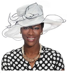 The Big Brim Organza Hat Ivory