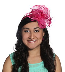 The Big Petal Fascinator Fuchsia