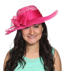 The Sculpted Bow Hat Fuchsia Pink