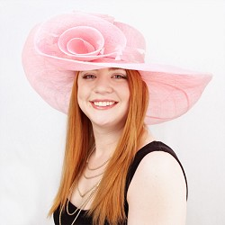 The Swirl Brim Hat Pink