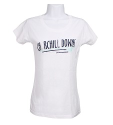 Juniors' Churchill Downs Racing Horse Tee White Extra Large