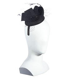 Beaded Netting Fascinator,LF199-ASST