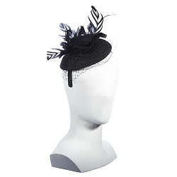 Feathered Netting Fascinator,LF199-ASST