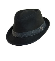 Men's Wool Blend Herringbone Fedora