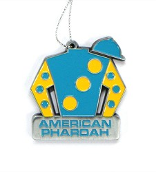 American Pharoah Silks Ornament