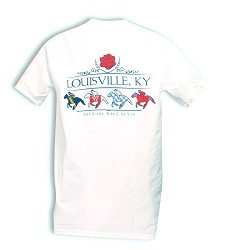 Horse Silks Louisville, KY Tee White XL