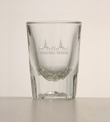 Grandstand Etched Fluted Shotglass,1331 LITE ETCH