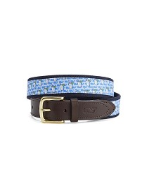 Vineyard Vines Mint Julep Belt Light Blue 32 inches