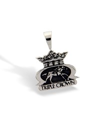 Sterling Silver Triple Crown Logo Pendant by Darren K. Moore,397-15
