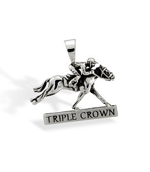 Triple Crown Horse and Jockey Pendant by Darren K. Moore