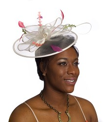 The Halo Bow Fascinator,KD75DERBY-IVORY