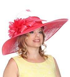 The Silk-Trimmed Bow Hat Coral