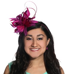 The Feathers and Quill Fascinator Fuchsia