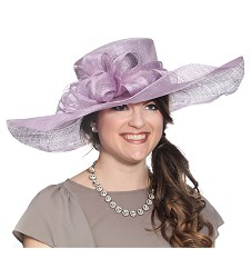 Big Brim Loopy Trim Hat,59DERBY-LAVENDER
