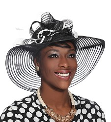 The Horsehair and Feathers Hat Black and White